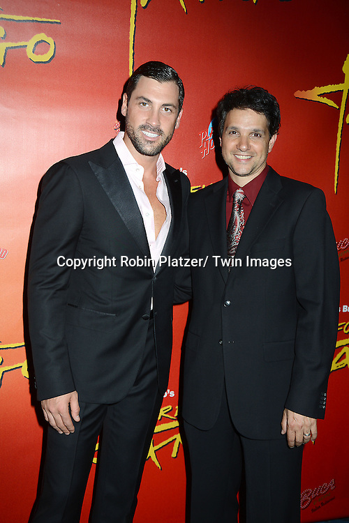 Maksim Chmerkovskiy and Ralph Macchio attend the &quot;Forever Tango &quot; Opening night on Broadway<br /> at the Walter Kerr Theatre in New York City on July 14, 2013. The party was at Buca di Beppo and Planet Hollywood. The show stars Karina Smirnoff and Maksim Chmerkovskiy.