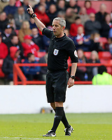 Referee Darren Bond in action<br /> <br /> Photographer David Shipman/CameraSport<br /> <br /> The EFL Sky Bet Championship - Nottingham Forest v Blackburn Rovers - Saturday 13th April 2019 - The City Ground - Nottingham<br /> <br /> World Copyright © 2019 CameraSport. All rights reserved. 43 Linden Ave. Countesthorpe. Leicester. England. LE8 5PG - Tel: +44 (0) 116 277 4147 - admin@camerasport.com - www.camerasport.com