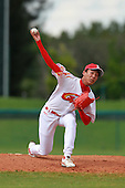 Pitcher Li Ziliang (20) of the China National Team during a game vs. the Washington Nationals Instructional League team at Holman Stadium in Vero Beach, Florida September 28, 2010.   China is in Florida training for the Asia games which will be played in Guangzhou, China in November.  Photo By Mike Janes/Four Seam Images