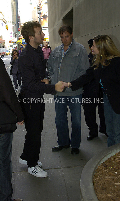 WWW.ACEPIXS.COM . . . . .  ....NEW YORK, MAY 23, 2005....Chris Martin at an appearance on MTV's TRL.....Please byline: Ian Wingfield - ACE PICTURES..... *** ***..Ace Pictures, Inc:  ..Craig Ashby (212) 243-8787..e-mail: picturedesk@acepixs.com..web: http://www.acepixs.com