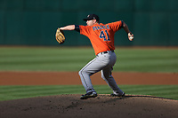OAKLAND, CA - SEPTEMBER 9:  Brad Peacock #41 of the Houston Astros pitches against the Oakland Athletics during game 2 of a doubleheader at the Oakland Coliseum on Saturday, September 9, 2017 in Oakland, California. (Photo by Brad Mangin)