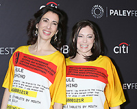 "LOS ANGELES - MAR 20:  Aline Brosh McKenna, Rachel Bloom at the PaleyFest -  ""Jane The Virgin"" And ""Crazy Ex-Girlfriend"" at the Dolby Theater on March 20, 2019 in Los Angeles, CA"