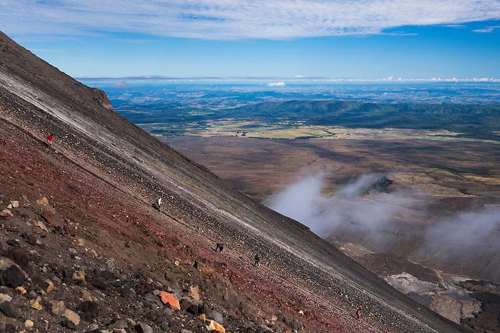 Mount Ngauruhoe Volcano summit climb, an extra on the Tongariro Alpine Crossing, Tongariro National Park, North Island, New Zealand