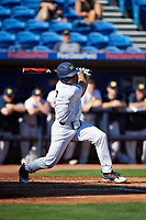 Michigan Wolverines center fielder Jonathan Engelmann (2) at bat during a game against Army West Point on February 18, 2018 at Tradition Field in St. Lucie, Florida.  Michigan defeated Army 7-3.  (Mike Janes/Four Seam Images)