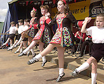 Dancers   from the Daly King school of Irish dancing  performing in the Munster Fleadh Cheoil na hEireann in Miltown Co. Kerry on Sunday afternoon.<br />Pic: Eamonn Keogh (MacMonagle, Killarney)