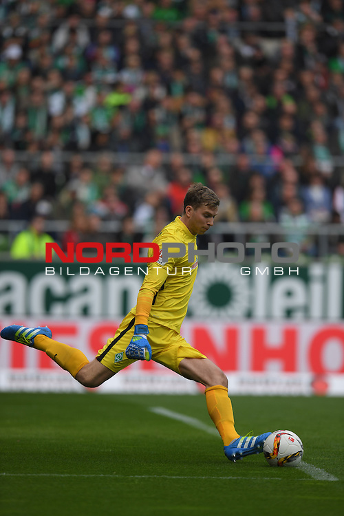 09.04.2016, Weserstadion, Bremen, GER, 1.FBL, Werder Bremen vs FC Augsburg, <br /> <br /> im Bild / picture shows<br /> Felix Wiedwald (Bremen #42), <br /> <br /> Foto &copy; nordphoto / Ewert
