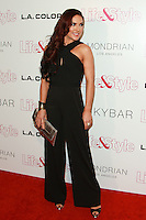 WEST HOLLYWOOD, CA, USA - OCTOBER 23: Sharna Burgess arrives at the Life & Style Weekly 10 Year Anniversary Party held at SkyBar at the Mondrian Los Angeles on October 23, 2014 in West Hollywood, California, United States. (Photo by David Acosta/Celebrity Monitor)