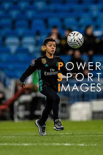 "Cristiano Ronaldo Junior ""Fiote"" during La Liga 2017-18 match between Real Madrid and Sevilla FC at Santiago Bernabeu Stadium on 09 December 2017 in Madrid, Spain. Photo by Diego Souto / Power Sport Images"