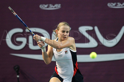 11th February 2011, Open GDF SUEZ, Stade Pierre de Coubertin, Paris, France. Jelena Dokic (AUS)  loses  her 1/4 finals to Kim Clijsters (BEL)  3-6 0-6.
