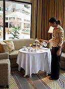 Afternoon tea at the Umstead Hotel & Spa, Raleigh, NC.