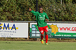 2018-07-28 / Voetbal / seizoen 2018 -2019 / KFC Houtvenne - VK. ST-Aghatha-Berchem/ Nieuwkomer Diaby Mamadou brengt KFC Houtvenne op voorsprong  ,Foto: Mpics.be