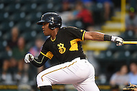 Bradenton Marauders first baseman Edwin Espinal (14) at bat during a game against the Charlotte Stone Crabs on April 20, 2015 at McKechnie Field in Bradenton, Florida.  Charlotte defeated Bradenton 6-2.  (Mike Janes/Four Seam Images)