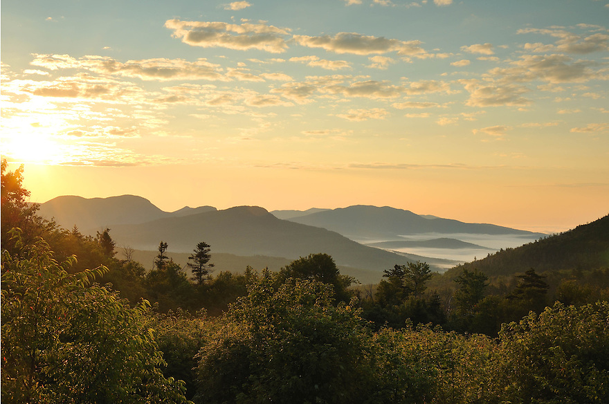 The start of another beautiful day in New Hampshire's White Mountains.