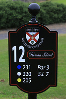 New sign at the 12th tee during the Preview of the AIG Cups & Shields Connacht Finals 2019 in Wesport Golf Club, Westport, Co. Mayo on Thursday 8th August 2019.<br /> <br /> Picture:  Thos Caffrey / www.golffile.ie<br /> <br /> All photos usage must carry mandatory copyright credit (© Golffile | Thos Caffrey)