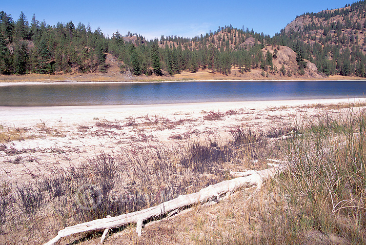 Mahoney Lake Ecological Reserve near Okanagan Falls, South Okanagan Valley, BC, British Columbia, Canada - a Saline, Alkaline, Mineral, and Meromictic Lake