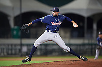 New Hampshire Fisher Cats relief pitcher Tim Mayza (30) delivers a pitch during a game against the Altoona Curve on May 11, 2017 at Peoples Natural Gas Field in Altoona, Pennsylvania.  Altoona defeated New Hampshire 4-3.  (Mike Janes/Four Seam Images)