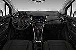 Stock photo of straight dashboard view of 2018 Chevrolet Trax LS 5 Door SUV Dashboard