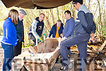 The Dugout Boat in Bonane Heritage Park <br /> Geanette Harrington, Cllr Dan McCarthy, Dr Niall Gregore, Shela O Sullivan, Florent, Mogus.