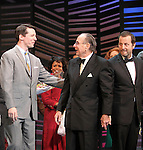 "Sean Hayes, Hal David, Rob Ashford.taking a bow on the  Opening Night Broadway performance Curtain Call for ""PROMISES, PROMISES"" at the Broadway Theatre, New York City..April 25, 2010."