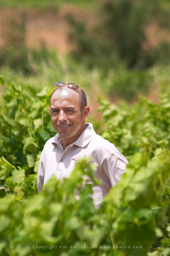Sylvain Fadat Domaine d'Aupilhac. Montpeyroux. Languedoc. Owner winemaker. France. Europe. Vineyard.