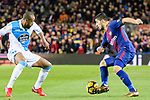 Luis Suarez of FC Barcelona (R) in action against Sidnei Rechel da Silva Junior of RC Deportivo La Coruna (L) during the La Liga 2017-18 match between FC Barcelona and Deportivo La Coruna at Camp Nou Stadium on 17 December 2017 in Barcelona, Spain. Photo by Vicens Gimenez / Power Sport Images