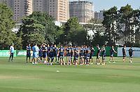 SÃO PAULO.SP.28.10.2014 - PALMEIRAS TREINO - Jogadores do Palmeiras durante o treinamento da equipe na Academia de Futebol zona oeste da cidade na tarde desta terça-feira 28. ( Foto: Bruno Ulivieri / Brazil Photo Press )