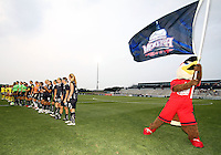 Glory with members of the Washington Freedom during a WPS match against the Philadelphia Independence on August 4 2010 at the Maryland Soccerplex, in Boyds, Maryland. Freedom won 2-0.