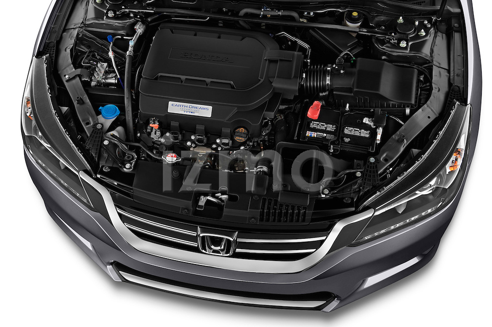 High angle engine detail of a  .2013 Honda Accord EX-L V6 Sedan