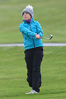 Rosie Belsham (ENG) on the 1st fairway during Round 1 of the Irish Girls U18 Open Stroke Play Championship at Roganstown Golf &amp; Country Club, Dublin, Ireland. 05/04/19 <br /> Picture:  Thos Caffrey / www.golffile.ie