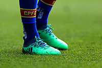 the boots of Joel Ward of Crystal Palace during Crystal Palace vs Brighton & Hove Albion, Premier League Football at Selhurst Park on 14th April 2018