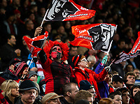 Crusaders fans during the 2018 Super Rugby final between the Crusaders and Lions at AMI Stadium in Christchurch, New Zealand on Sunday, 29 July 2018. Photo: Joe Johnson / lintottphoto.co.nz
