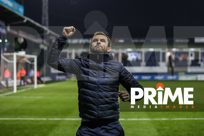 Nathan Jones (Manager) of Luton Town celebrates after victory in the Sky Bet League 1 match between Luton Town and Bradford City at Kenilworth Road, Luton, England on 27 November 2018. Photo by David Horn.