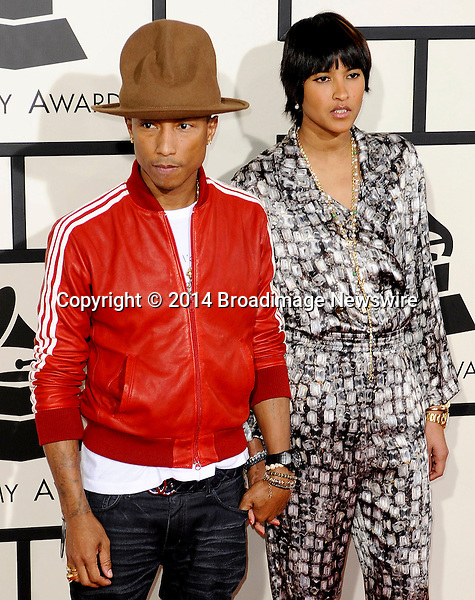 Pictured: Pharrell Williams<br /> Mandatory Credit &copy; Adhemar Sburlati/Broadimage<br /> The Grammy Awards  2014 - Arrivals<br /> <br /> 1/26/14, Los Angeles, California, United States of America<br /> <br /> Broadimage Newswire<br /> Los Angeles 1+  (310) 301-1027<br /> New York      1+  (646) 827-9134<br /> sales@broadimage.com<br /> http://www.broadimage.com