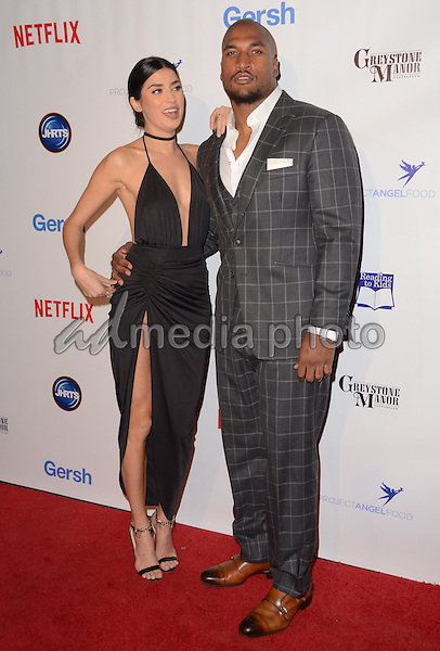 09 December - Beverly Hills, Ca - Nicole Williams, Larry English. Arrivals for the Junior Hollywood Radio and Television Society's 13th Annual Holiday Party held at Greystone Manor. Photo Credit: Birdie Thompson/AdMedia