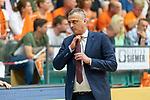 04.06.2019, RASTA Dome 2.0, VECHTA, GER, easycredit-bbl, PlayOff 02 HF, RASTA Vechta vs  FC Bayern Muenchen, im Bild<br /> <br /> Velibor Radović / Radovic (Trainer Bayern Muenchen BBL)<br /> Gestik, Mimik,<br /> Foto © nordphoto / Kokenge
