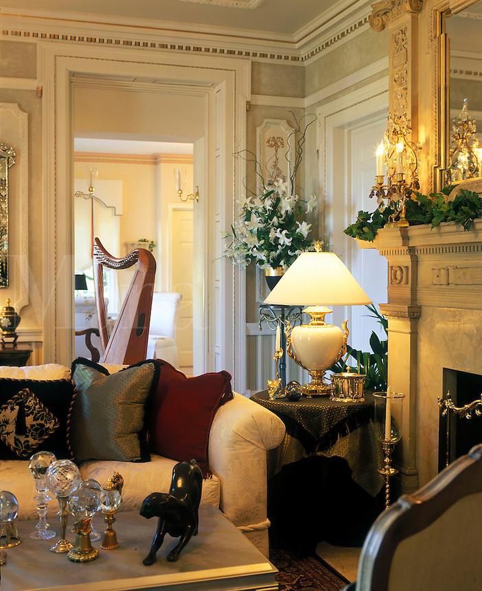 Elegantly appointed living room.