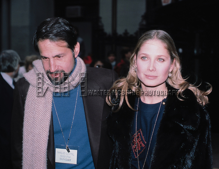 Deborah Raffin with husband Michael Vinner in New York City, October 1985