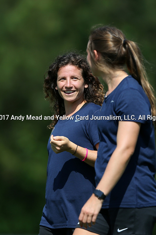 CARY, NC - APRIL 20: Elizabeth Eddy. The North Carolina Courage held a training session on April 20, 2017, at WakeMed Soccer Park Field 7 in Cary, NC.