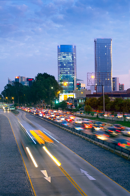 Lima, Peru, San Isidro Business District, Paseo de la Republica, Via Expresa, Metropolitan Bus Rapid Transit System