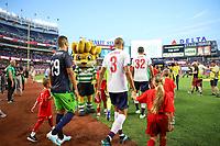 Nova York (EUA), 24/07/.2019 - Liverpool x Sporting  - Jogadores  do Liverpool durante partida contra o Sporting partida amistosa no Yankee Statium em Nova York nos Estados Unidos nesta quarta-feira, 24. (Foto: William Volcov/Brazil Photo  Press)