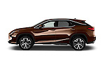 Car Driver side profile view of a 2018 Lexus RX 350 5 Door SUV Side View