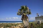 Israel, Carmel coast, a view of of Atlit Coast from Karta Ruins.