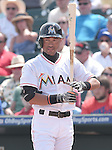 Ichiro Suzuki (Marlins),<br /> MARCH 22, 2015 - MLB : Ichiro Suzuki of the Miami Marlins bats during s spring training game at Roger Dean Stadium in Jupiter, Florida, United States.<br /> (Photo by AFLO)