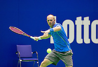 Rotterdam,Netherlands, December 15, 2015,  Topsport Centrum, Lotto NK Tennis, Bart de Gier (NED)<br /> Photo: Tennisimages/Henk Koster