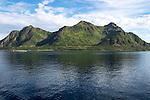 Mountains on Stormolla island, Lofoten islands, Nordland, Norway
