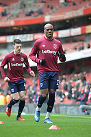 Angelo Ogbonna of West Ham United warms up during Arsenal vs West Ham United, Premier League Football at the Emirates Stadium on 7th March 2020
