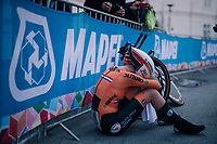 Anna van der Breggen (NED/Boels-Dolmans) post-finish<br /> <br /> WOMEN ELITE INDIVIDUAL TIME TRIAL<br /> Hall-Wattens to Innsbruck: 27.8 km<br /> <br /> UCI 2018 Road World Championships<br /> Innsbruck - Tirol / Austria