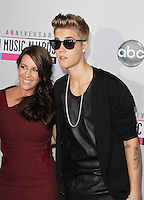 LOS ANGELES, CA - NOVEMBER 18: Pattie Malette and Justin Bieber at the 40th American Music Awards held at Nokia Theatre L.A. Live on November 18, 2012 in Los Angeles, California. Credit: mpi20/MediaPunch Inc. NortePhoto