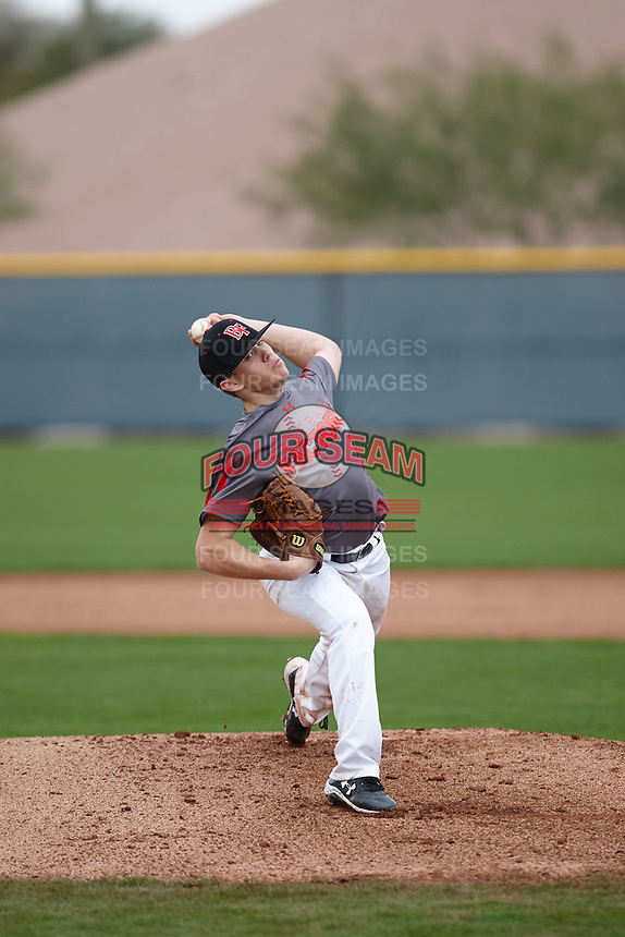 Tyler Chase Wilkerson of South Paulding High School in Douglasville, Georgia during the Under Armour All-American Pre-Season Tournament presented by Baseball Factory on January 15, 2017 at Sloan Park in Mesa, Arizona.  (Kevin C. Cox/MJP/Four Seam Images)