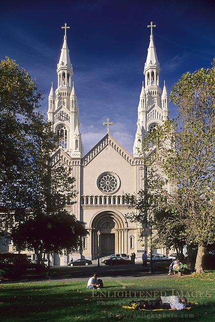 Sts. Peter & Paul's Church, Washington Square, North Beach, San Francisco, California